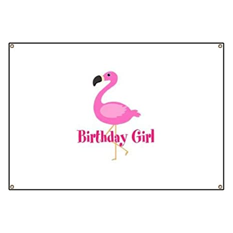 f7b8e57be Amazon.com: CafePress Birthday Girl Pink Flamingo Vinyl Banner, 44 ...