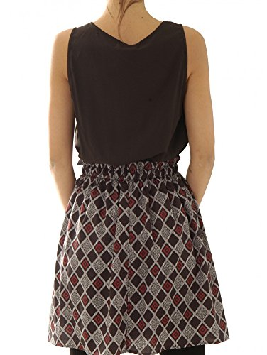 ANONYME DESIGNERS Kleider Kleider Checkers Sleeveless Dress Ad-A15fd110-Black VDfQ6WAn