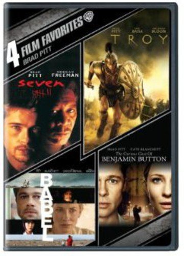 City Button - 4 Film Favorites: Brad Pitt (The Curious Case Of Benjamin Button, Babel, Troy, Seven)