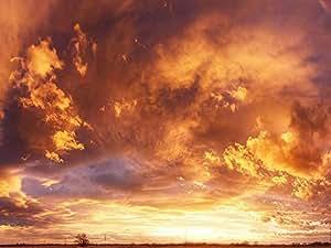 fiery sky - Art Print on Canvas (50x70 CM, unframed)