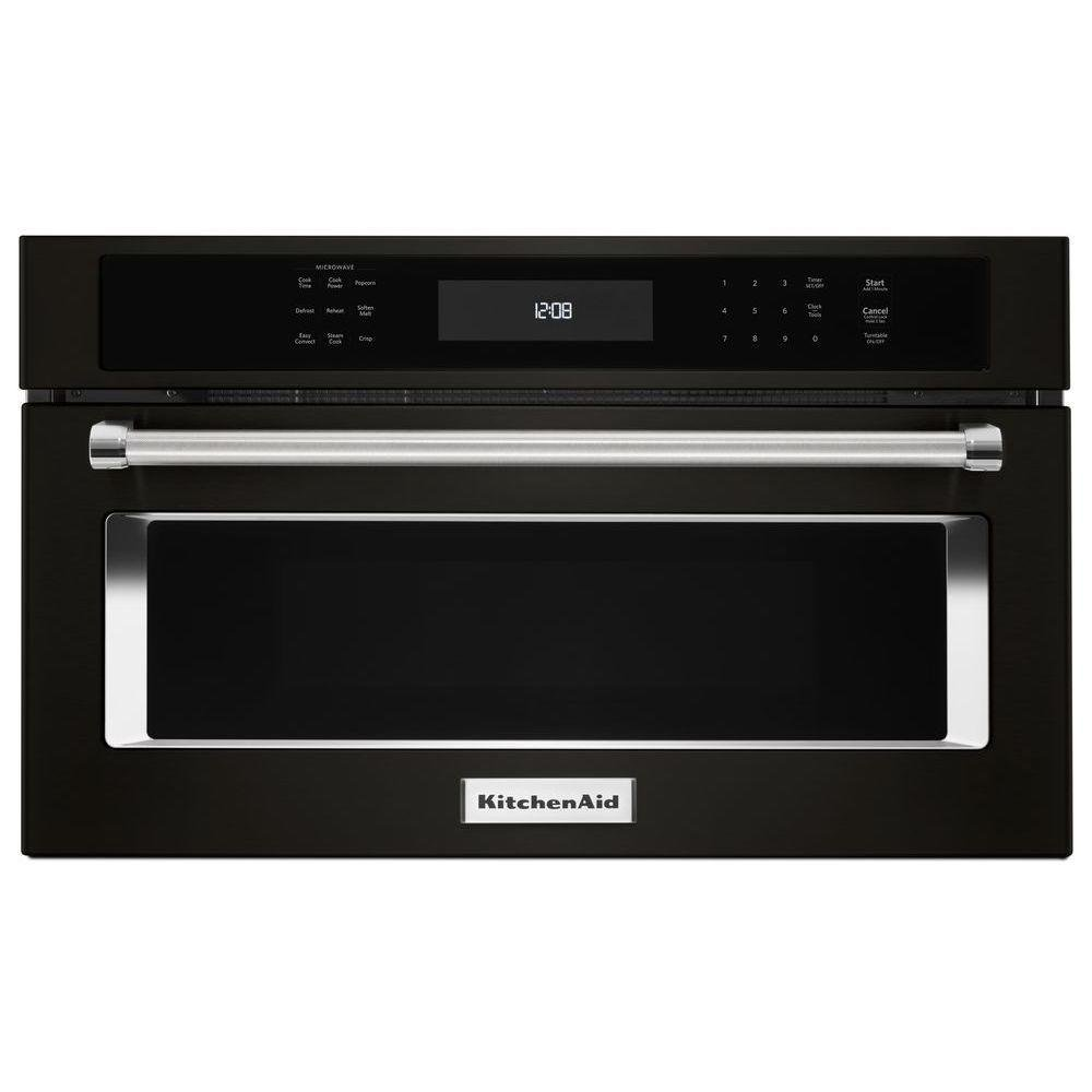 KitchenAid 1.4 cu. ft. Built-In Microwave in Black Stainless