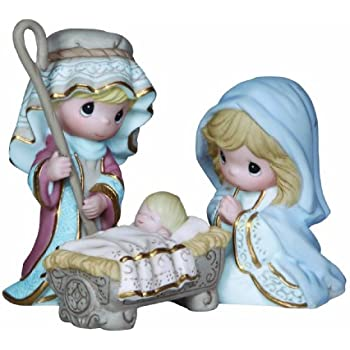 Amazoncom Precious Moments Mini Nativity Series Come Let Us