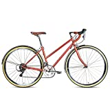 Populo Bikes Route Classic Women's Step-Through 16-SpeedCommuter Bicycle, Rose Gold, 48cm/Large Populo Bikes
