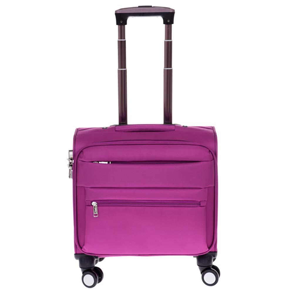 多機能防水旅行フライトバッグ、ラップトップコンパートメント付きビジネストロリーケース、キャビンの手荷物スーツケース、4輪付きの超軽量トラベルキャリー。 B07KF9T2H2 21in Purple Purple 21in