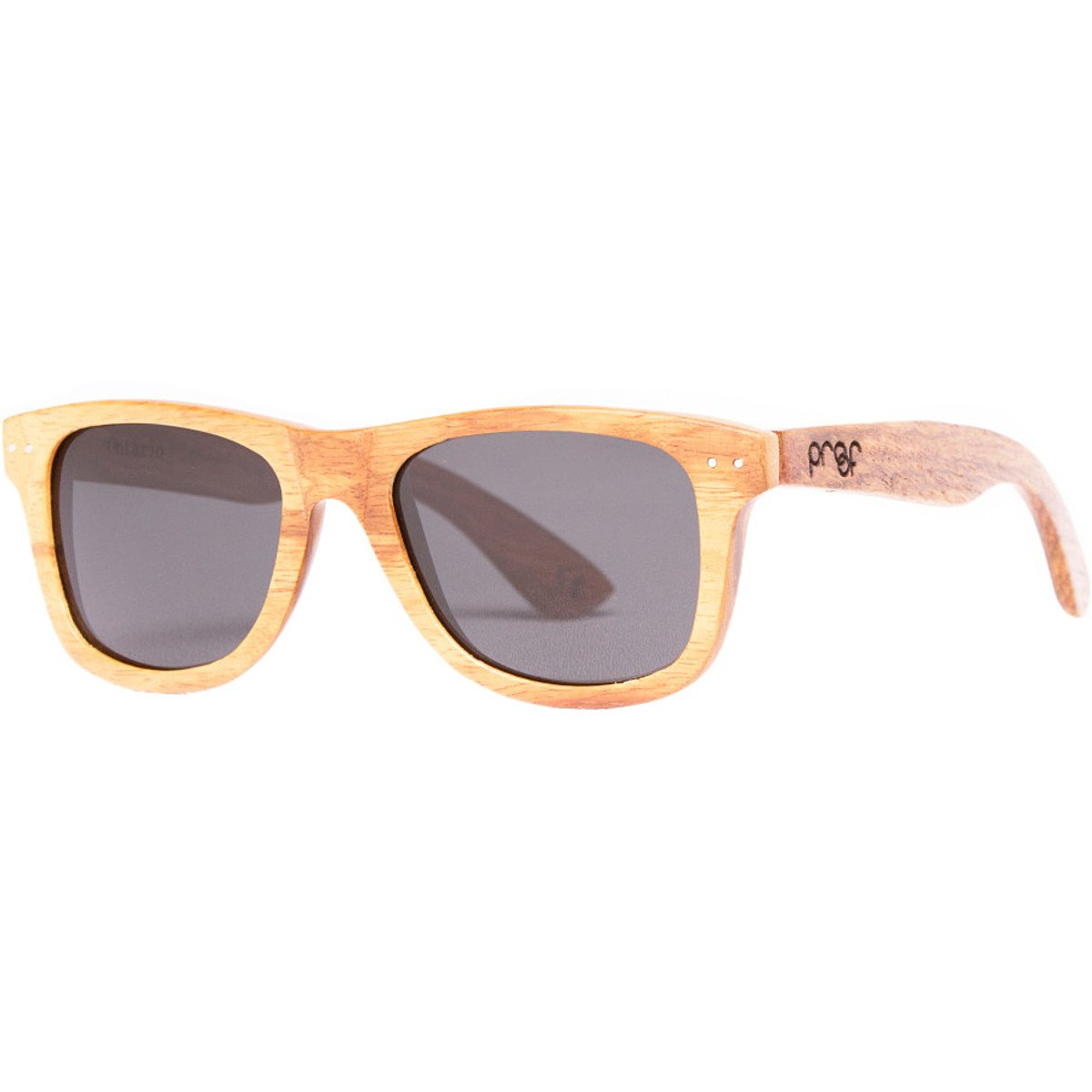 55cd9c7334 Amazon.com  Proof Eyewear Ontario Wood Sunglasses Bamboo Gray Lens ...