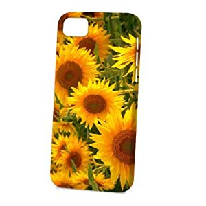 Case FunDiy For Iphone 4/4s Case Cover Vogue Version - 3D Full Wrap - Sunflowers