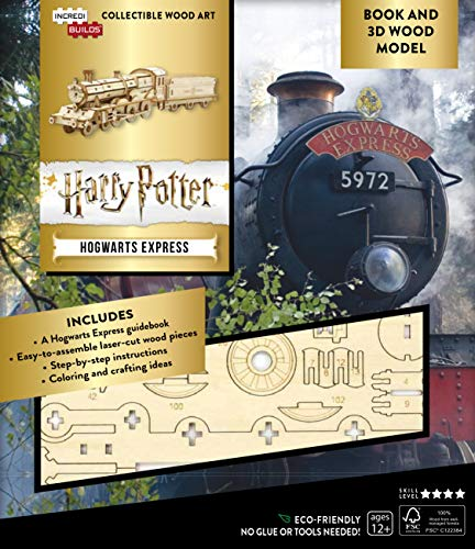 IncrediBuilds: Harry Potter: Hogwarts Express Book and 3D Wood Model: A Behind-the-Scenes Guide to the Magical Train