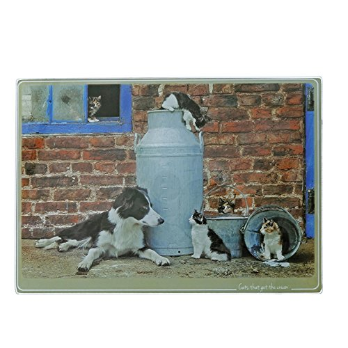 Kitchy and Co A29165 Cats That Got The Cream Collie Trivet -