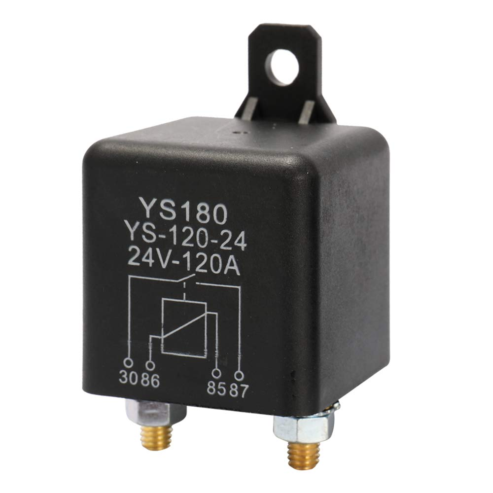 Festnight YS180-120A 24V Car Relay Small Size Lightweight Portable Vehicle Electronic Control Element with 7 Silver Contactors