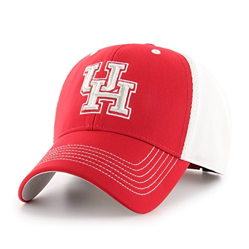 NCAA Houston Cougars Sling OTS All-Star MVP Adjustable Hat, Red, One Size -