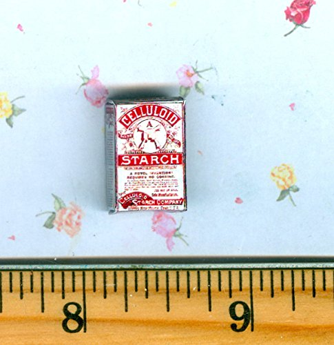 Victorian Celluloid - Dollhouse MINIATURE Size Victorian CELLULOID Starch Box - My Mini Fairy Garden Dollhouse Accessories for Outdoor or House Decor