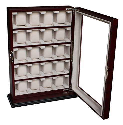 4Less 20 Piece Wood Watch Display Wall Hanging Case and Storage Organizer Box Stand 110020 ()