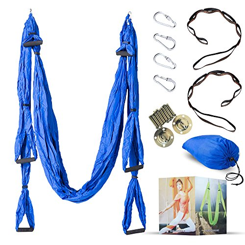 Check Out This Desson Aerial Yoga Hammock Kit Set Trapeze Sling With Ceiling Hooks | Durable Swing, ...