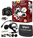 iGear Omnidirectional Condenser Microphone with Case, 2 Lapel Clips, 2 Wind Muffs and 4.5 meters Cable