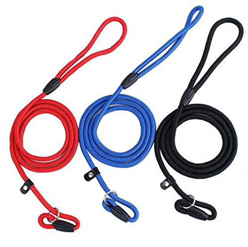 Pet Dog Nylon Rope Training Leash Slip Lead Strap Adjustable Traction Collar by Unbranded