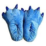NEW Unisex Womens Mens Kigurumi Soft Coral Fleece Animal Dinosaur Stitch Paw Plush Slippers