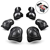 PHZ Kids 8 in 1 Knee Pads Elbow Pads Wrist Guards Toddler Gloves Protective Gear Set for Rollerblading Skateboard Cycling Skating Bike