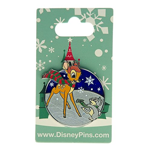 (Disney Parks Bambi Pin with Thumper Christmas and Holiday on Ice)