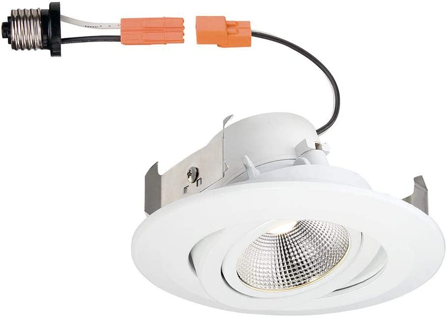 White LED Recessed Gimbal Trim Commercial Electric 4 in