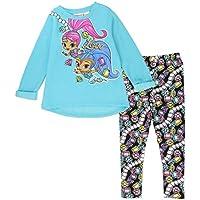 Shimmer and Shine Toddler Girls' 2-Piece Fleece Legging Set In Aqua or Purple