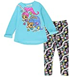 Clothing Shoes Jewelry Best Deals - Shimmer and Shine Toddler Girls' 2-Piece Fleece Legging Set 2T (3T, Aqua)