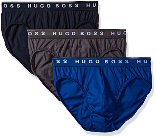 Hugo Boss BOSS Men's Brief 3p Us Co 10145963 01, True Blue/Sky Captain/Forged Iron, Medium