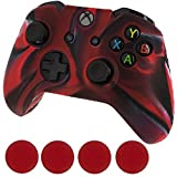 Generic Silicone Cover Case Skin & Grip Stick Caps for Microsoft Xbox One Controller Black and Red Review