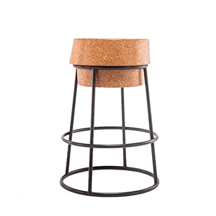 American Solid Wood Bar Chair European Bar Chair Retro Stool Backrest Front Desk Bar Chair High Stool Elegant Appearance Furniture