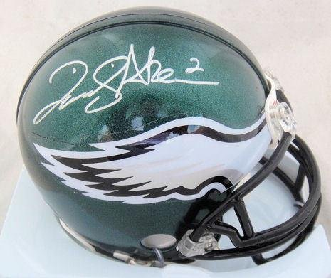 David Akers Eagles Autographed Football Mini-Helmet