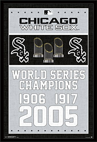 Trends International Framed Poster Chicago White Sox - Champions 17 24.25