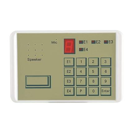 Fdit Phone - Sistema de alarma de seguridad con cable de seguridad (20 segundos, para seguridad completa en casa y negocios)