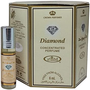 49b40e3d7 Amazon.com : Diamond by Al Rehab Concentrated Roll On Oil Floral Musky  Woody Amber by Al Rehab : Beauty