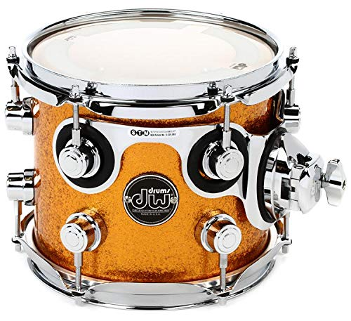 DW Performance Series Mounted Tom - 7'' x 8'' Gold Sparkle Finish Ply