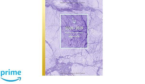 Amazon.com: Agenda 2018-2019: Agenda Semainer de Août 2018 à ...