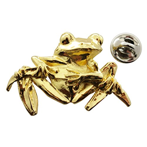 - Tree Frog Pin ~ 24K Gold ~ Lapel Pin ~ Sarah's Treats & Treasures