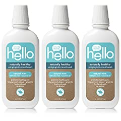 Say hello to naturally healthy antigingivitis mouthwash. thoughtfully formulated with aloe vera to promote healthy gums, hello contains coconut oil to moisturize, mint to freshen and natural sweeteners to rock your taste buds. And it prevents...