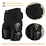 """Riding Armor Pants Skating Protective Armour Skiing Snowboards Mountain Bike Cycling Cycle Shorts (S (28"""" to 30"""" Waist)) Black"""