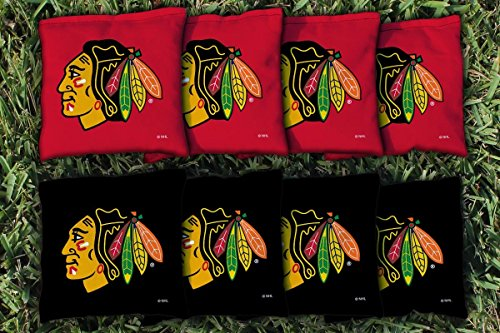 Blackhawks Chicago Bag - Victory Tailgate 8 Chicago Blackhawks NHL Regulation All Weather Cornhole Bags