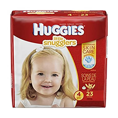 Huggies Little Snugglers Diapers, Size 4, 23 Count (Packaging may vary)
