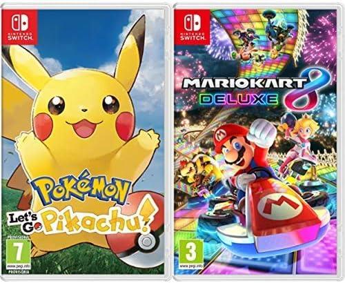 Pokémon: Lets Go, Pikachu! & Mario Kart 8 Deluxe: Amazon.es ...