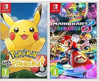 Pokémon: Lets Go, Pikachu! & Mario Kart 8 Deluxe: Amazon.es: Videojuegos