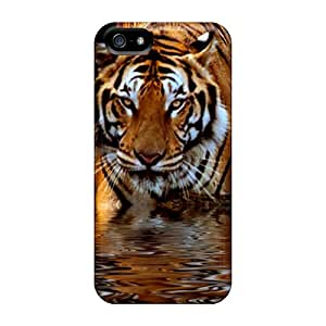 Special ChrismaWhilten Skin Cases Covers For Iphone 5/5s, Popular Tiger Phone Cases