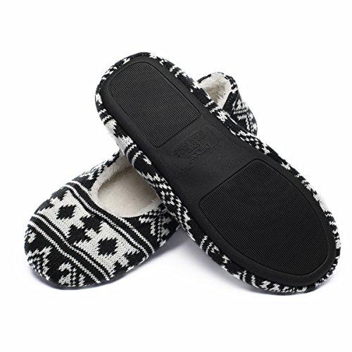 Ofoot Women's Ballerina Slippers,Woman Ballet Indoor Slipper,Super Soft Warm Velvet Lined,Anti-Skid House Shoes by...
