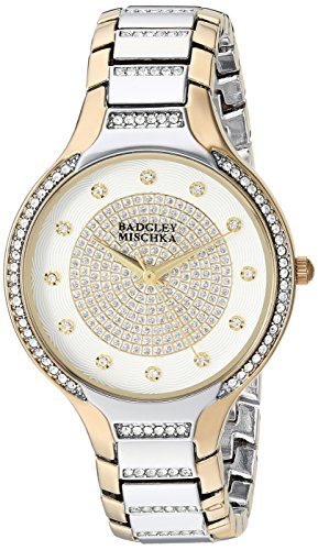 badgley-mischka-womens-ba-1375svtt-swarovski-crystal-accented-two-tone-bracelet-watch
