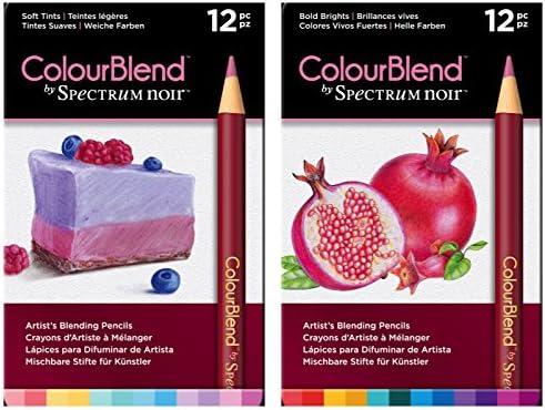 12pk ColourBlend Arts /& Crafts Pencil Set Spectrum Noir Bold Brights