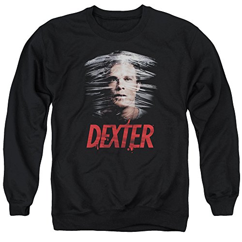 Dexter Plastic Wrap Mens Crewneck Sweatshirt Black Xl