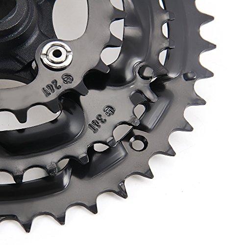 shsyue 42/34/24T Mountain Bicycle Bike Road MTB Crankset 170mm 7/8 Speed Aluminum Black by shsyue (Image #8)