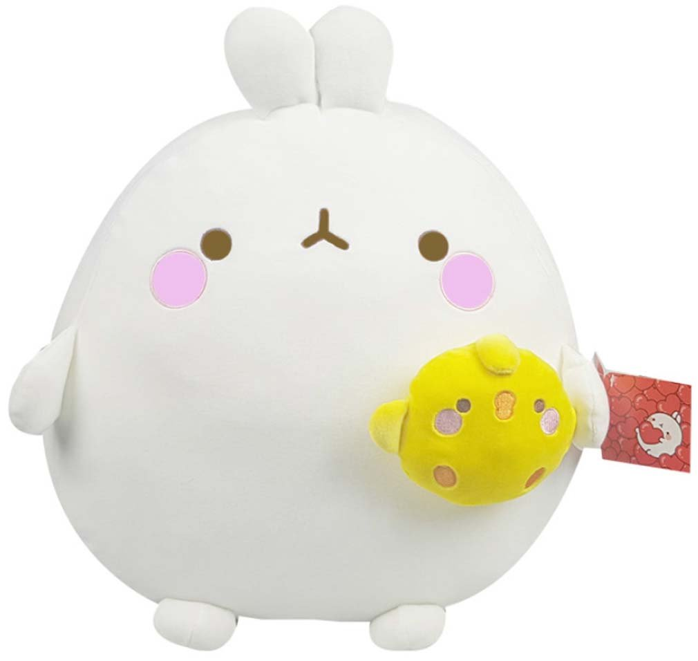 Molang Piu Piu 16'' Mochi Pillow Plush Toy Doll Home Room Decor 40cm