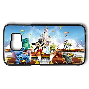 Samsung Galaxy S6 Case, Disney Animated Movie Characters Polycarbonate Plastic Hard Case Cover for Samsung Galaxy S6 Black