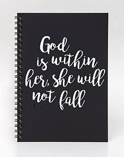 Scripture Verse Decal - Psalm 46:5 God is within her - White Vinyl Sticker for Laptop or Notebook by Say It Stickers (Image #3)